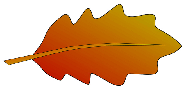 640x305 Red Oak Leaves Clipart