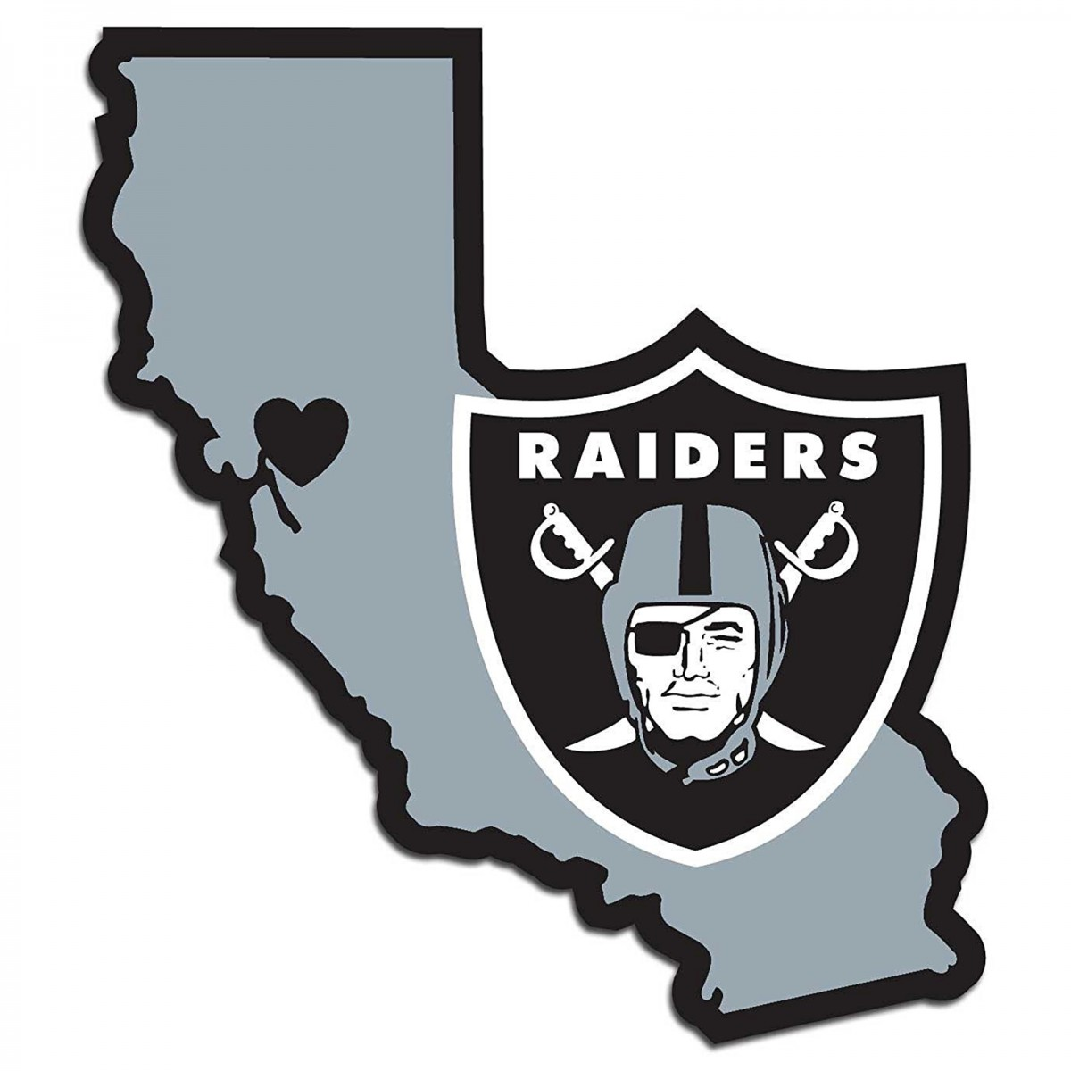 1200x1200 Oakland Raiders Home State Decal