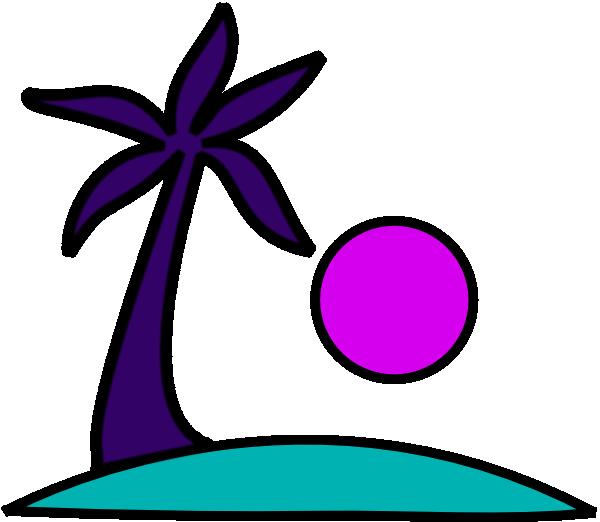 600x522 Palm In Purple Clip Art