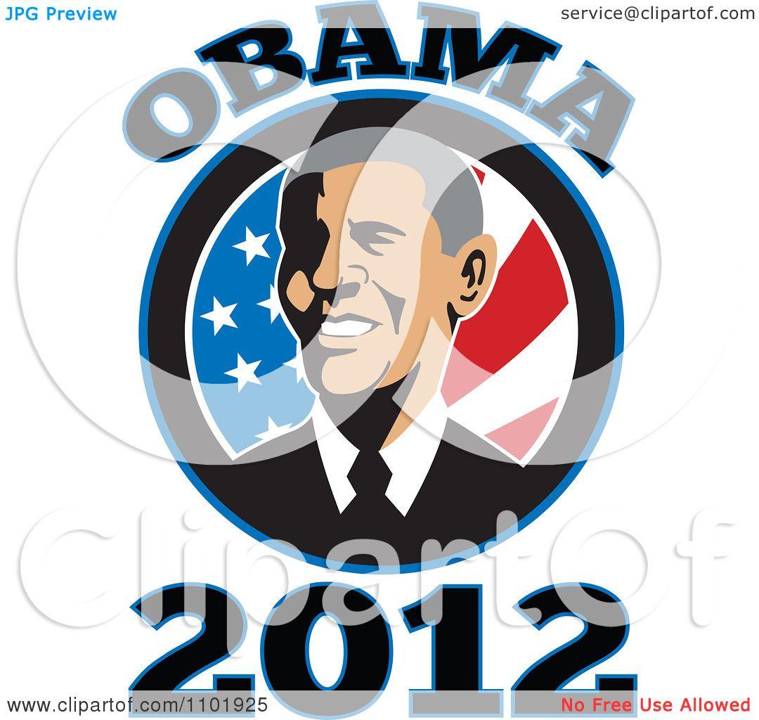 1080x1024 Clipart Barack Obama American President Over Stars And Stripes
