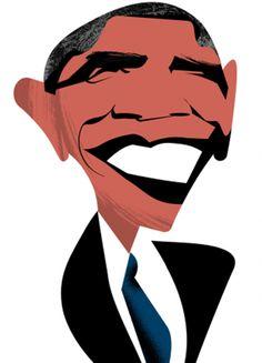 236x327 Caricatures Caricatures Caricatures Barack Obama