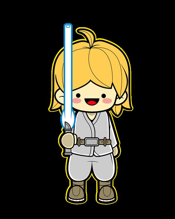 600x750 Resultado De Imagen Para Star Wars Luke Clip Art Personajes De