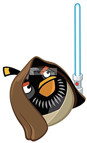 304x500 10 Inches Obi Wan Kenobi Black Bomb Bird Angry Birds Star Wars