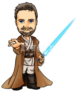 308x370 Draw You As A Jedi In Anime Chibi Style By Zeus777