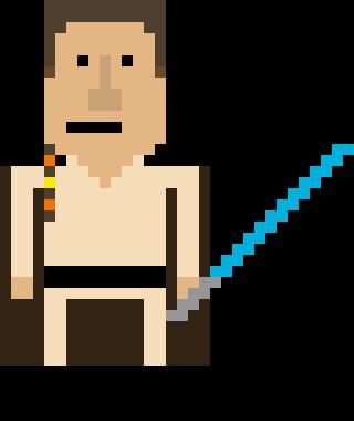 320x380 Obi Wan Kenobi (I) Pixel Art Maker