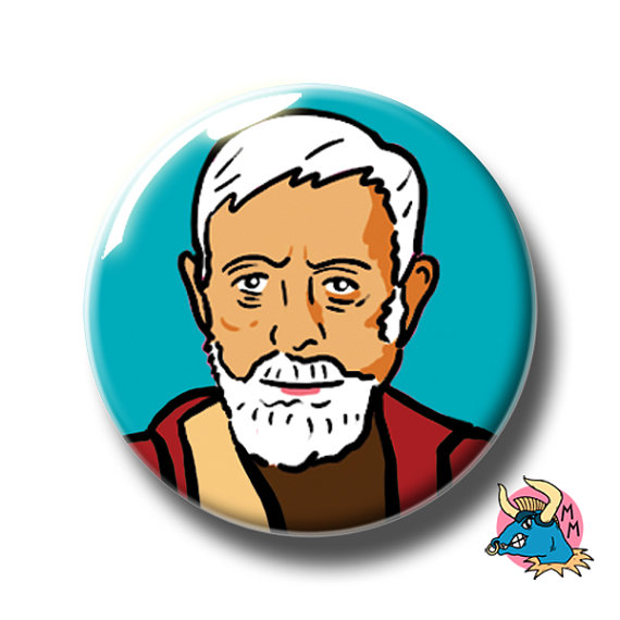 570x570 Star Wars Badge. Obi Wan Kenobi Pin Badge. Star Wars Pin. Pin