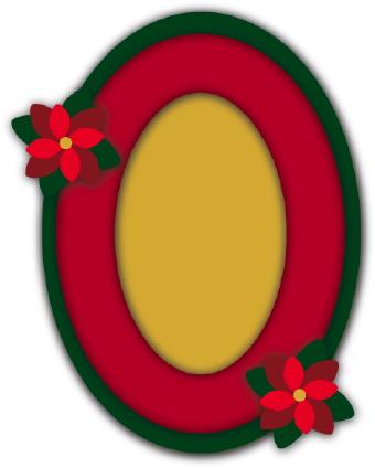 340x424 Christmas Photo Frame Oval Clip Art