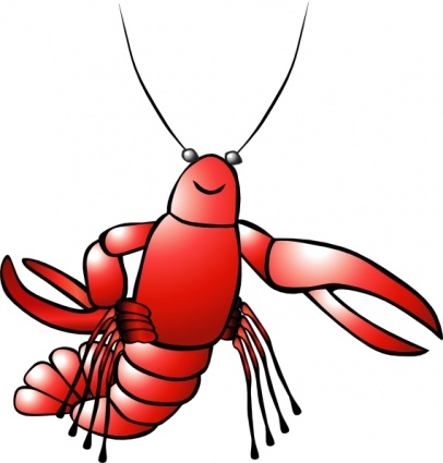 406x425 Crawfish Clip Art