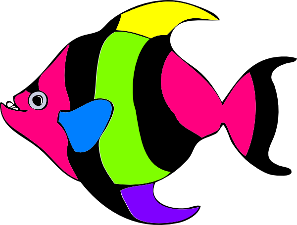 600x455 Tropical Fish Cartoons Group