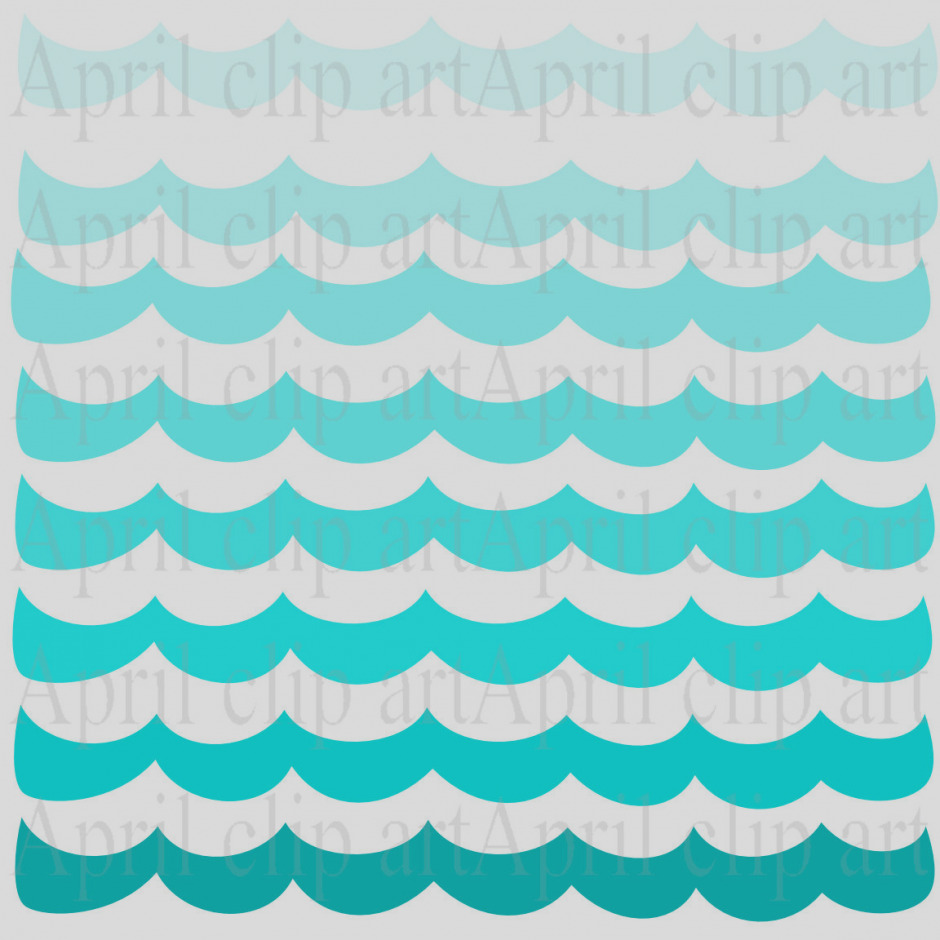 940x940 Ocean Clipart Waves