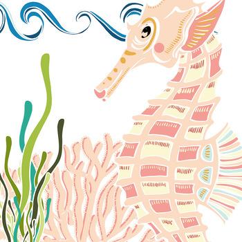 350x350 Sea Creatures Clip Art Seahorse Amp Turtle Clipart, Ocean Animals