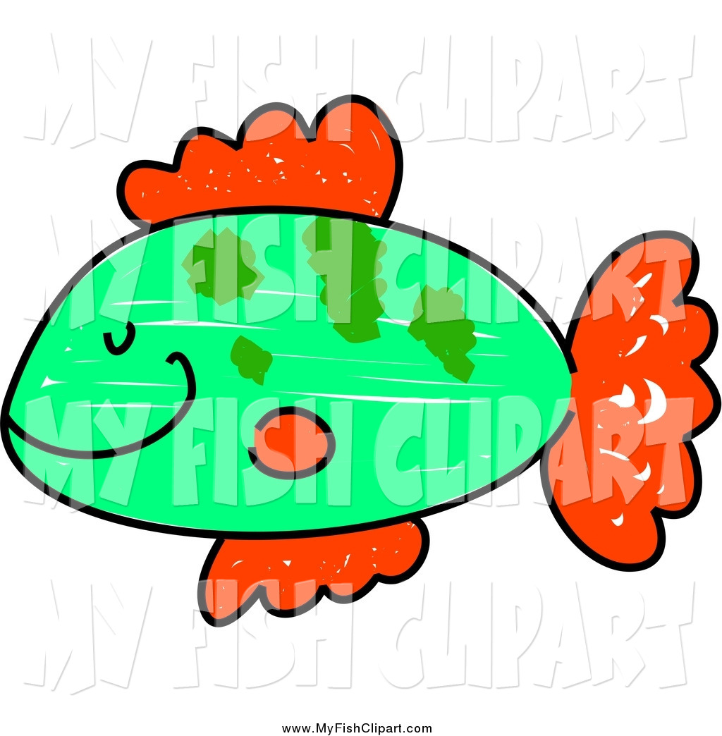 1024x1044 Clip Art Of A Happy Green And Red Fish In Profile By Prawny