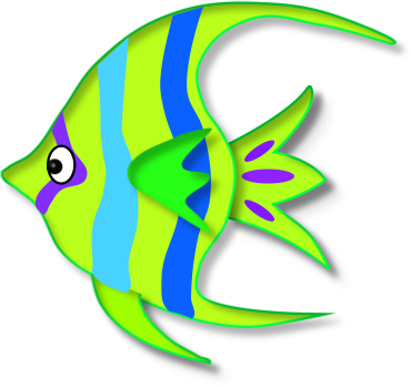 370x350 Image Of Tropical Fish Clipart
