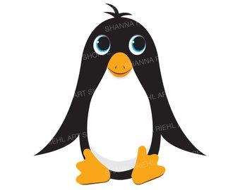 340x270 Cute Penguin Clipart Ocean Animals Instant Download Instant