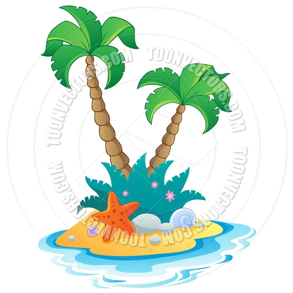 940x940 Island Clipart Beach Scene