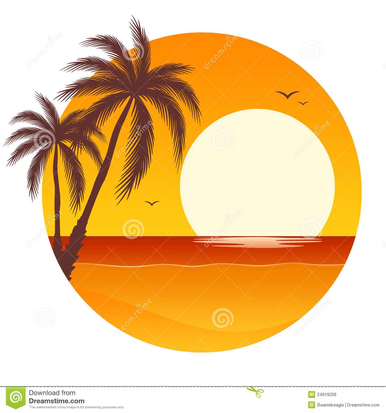 1300x1390 Ocean Sunset Clip Art Palm Clipart Panda