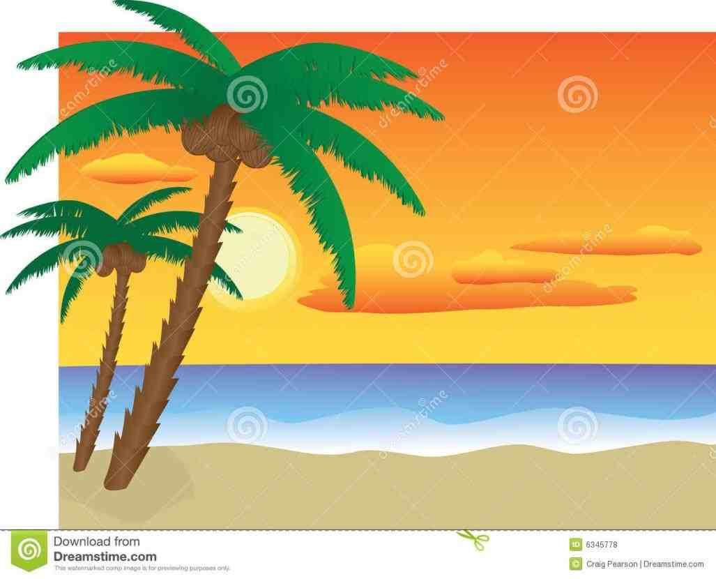 1027x830 Sunset On The Beach Clipart
