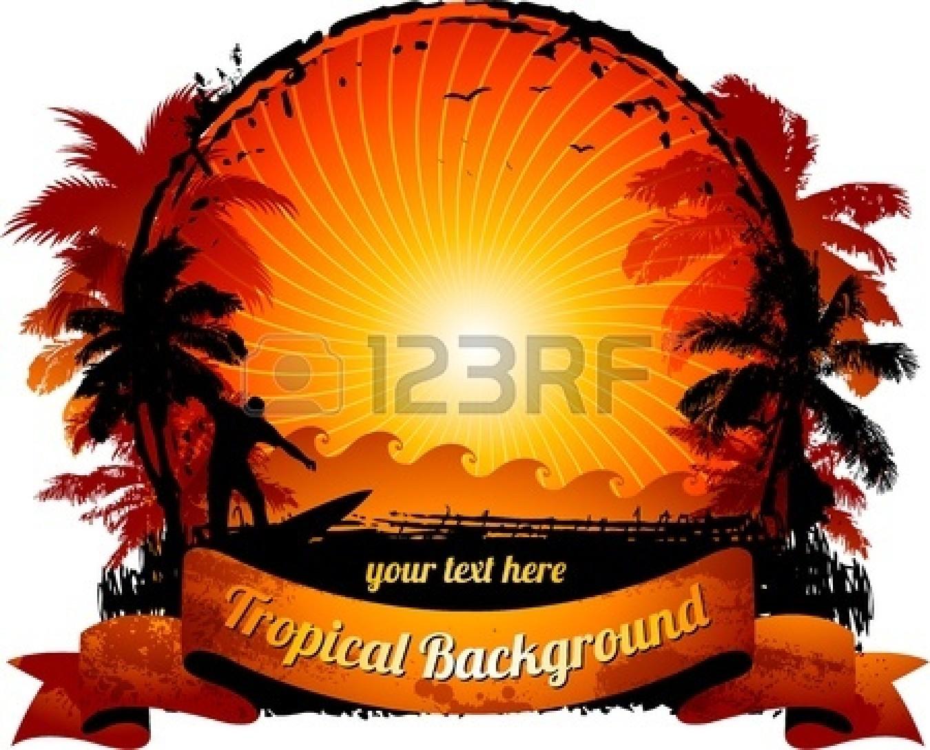 1350x1089 Beach Sunset Clipart Free Clip Art Download