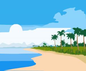300x246 Ocean Clipart Png Island Ocean Clip Art