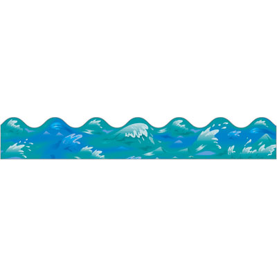 400x400 Ocean Background Clip Art Waves Theme Image 6