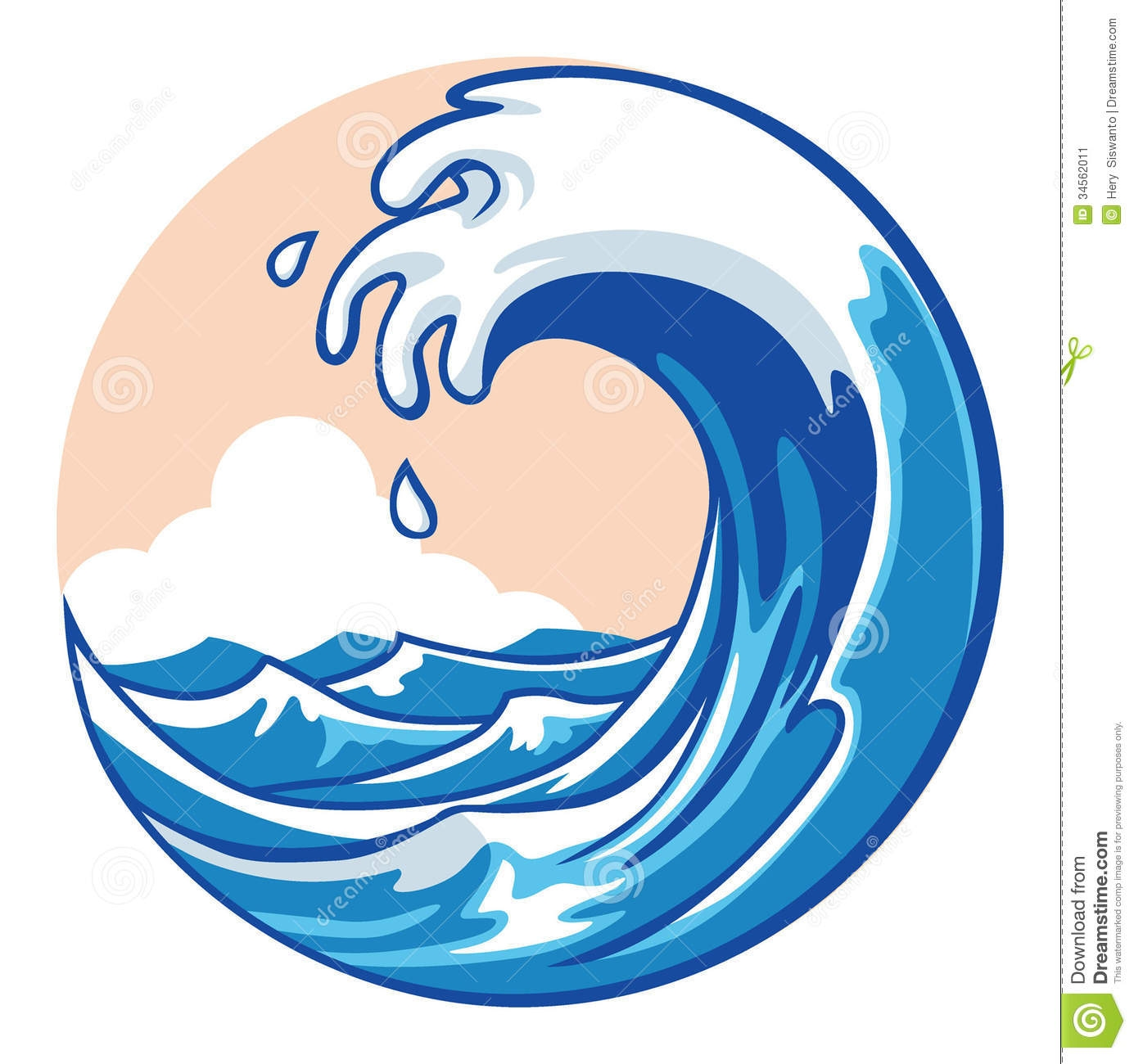 1385x1300 New Wave Clipart Design