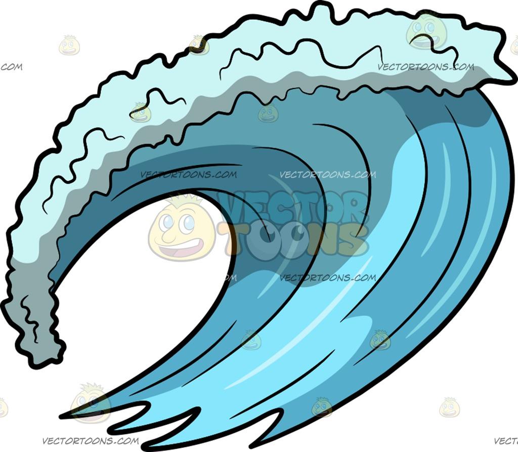 1024x893 A Big Surf Ocean Wave Cartoon Clipart Vector Toons