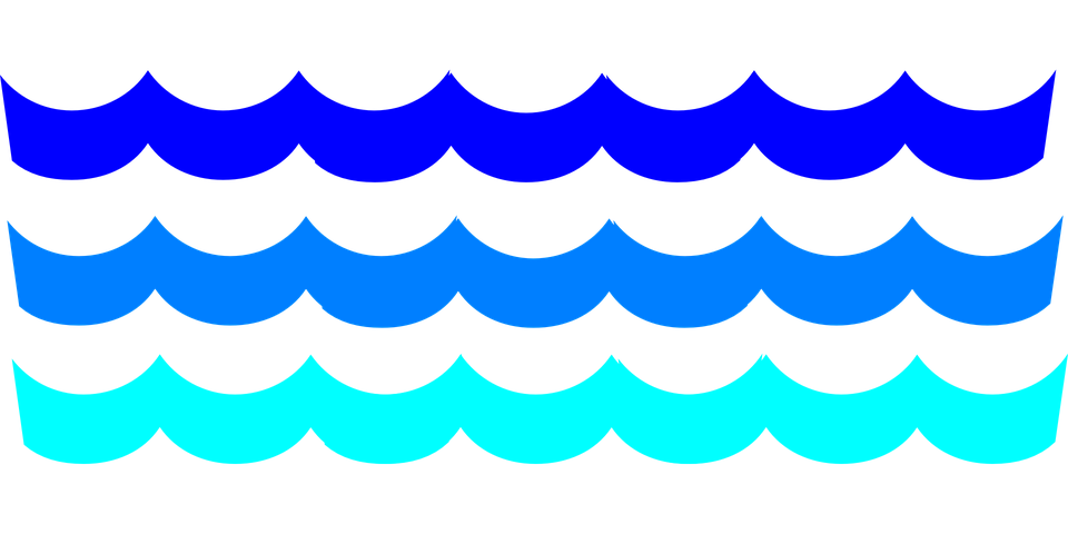 960x480 Ocean Waves Clipart Water Waves Swimming Pool Free Vector Graphic
