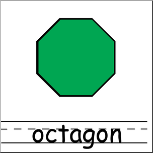 304x304 Clip Art Shapes Octagon Color Labeled I Abcteach
