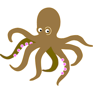 300x300 Octopus Clipart Free