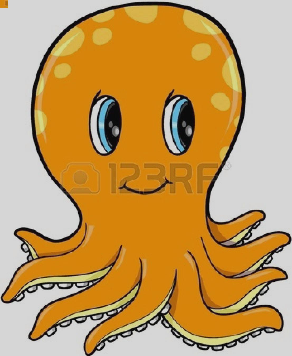 1107x1350 Orange Octopus Clipart