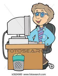 229x300 Office Worker Clipart Clipart Of Cartoon Office Worker K3524560