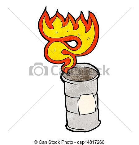 449x470 Flaming Oil Drum Cartoon Clip Art Vector