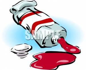 300x243 Oil Paint Spill Clipart
