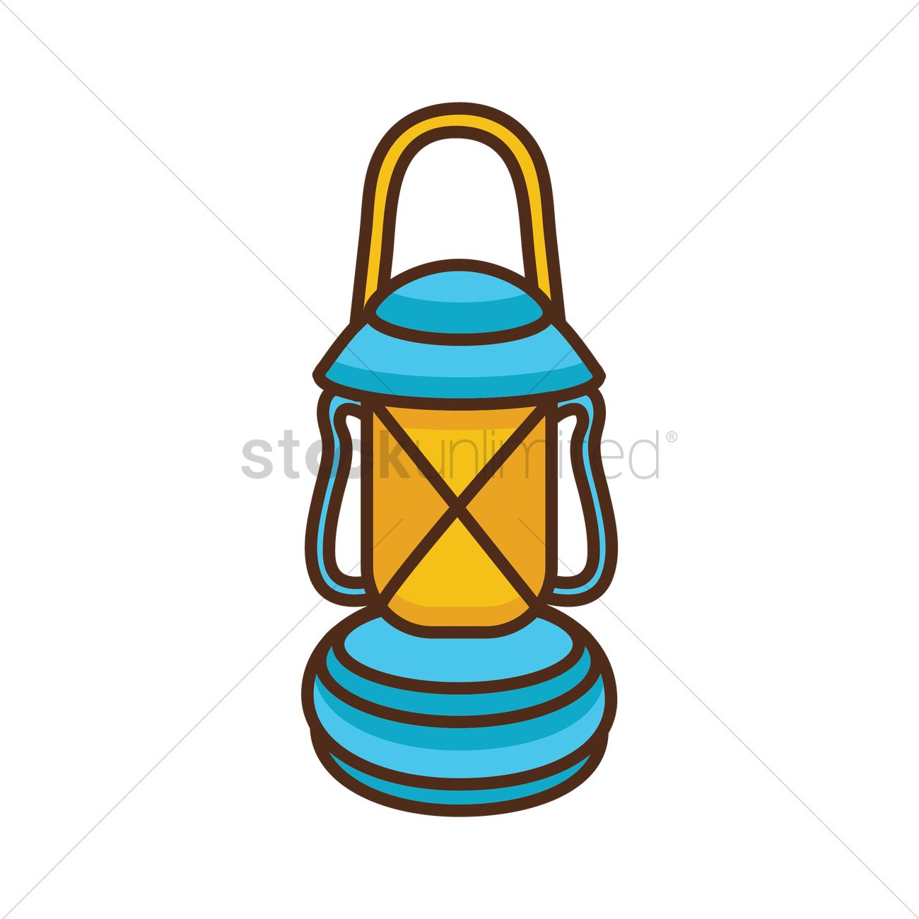 1300x1300 Oil Lamp Vector Image