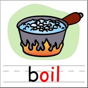 304x304 Clip Art Basic Words Oil Phonics Boil Color I
