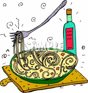 284x300 Clip Art Image Oil Next To A Plate Of Spaghetti