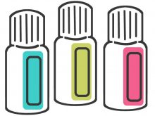 220x165 Essential Oil Clipart Clip Art Of Set Of Stylized Bottles