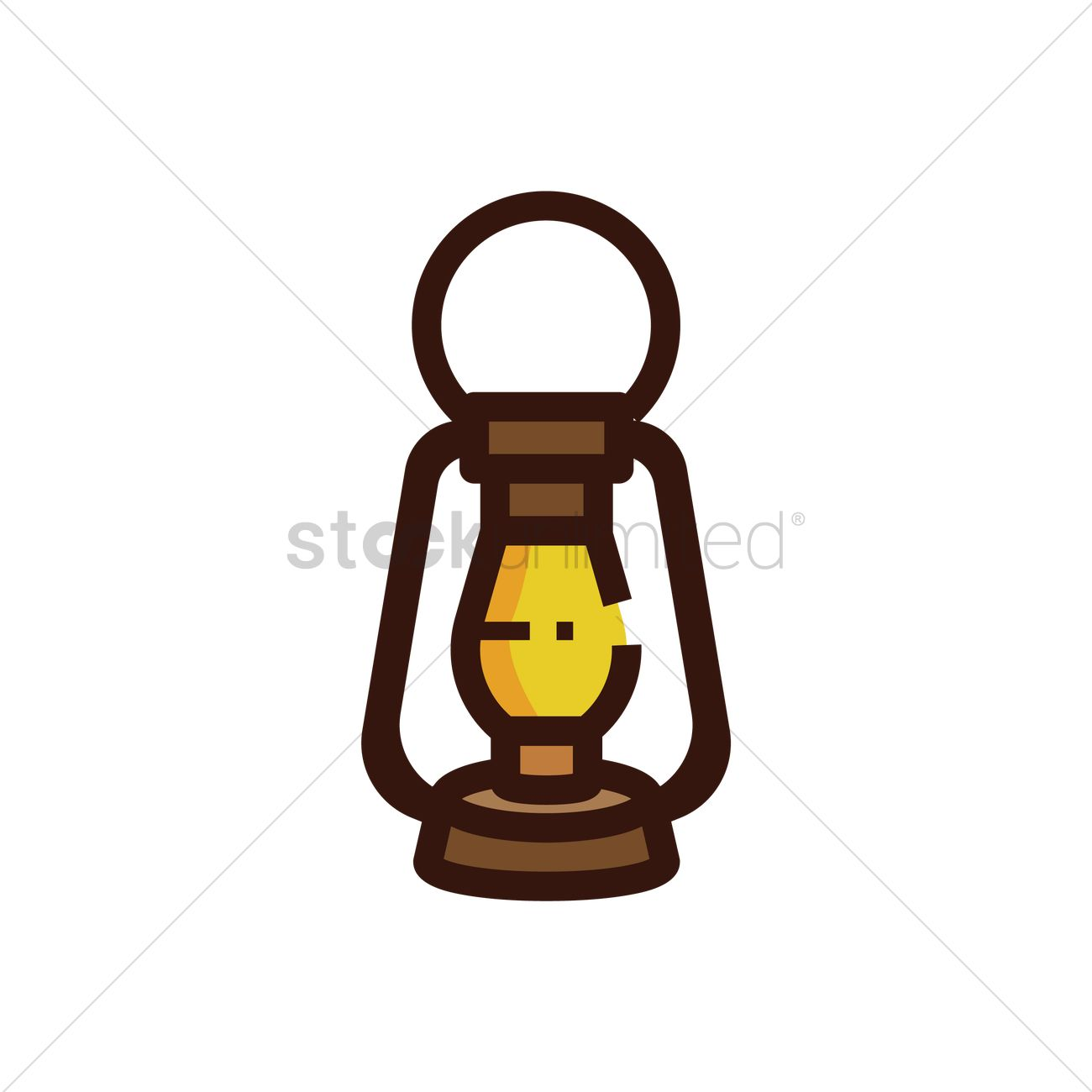 1300x1300 Oil Lamp Vector Image