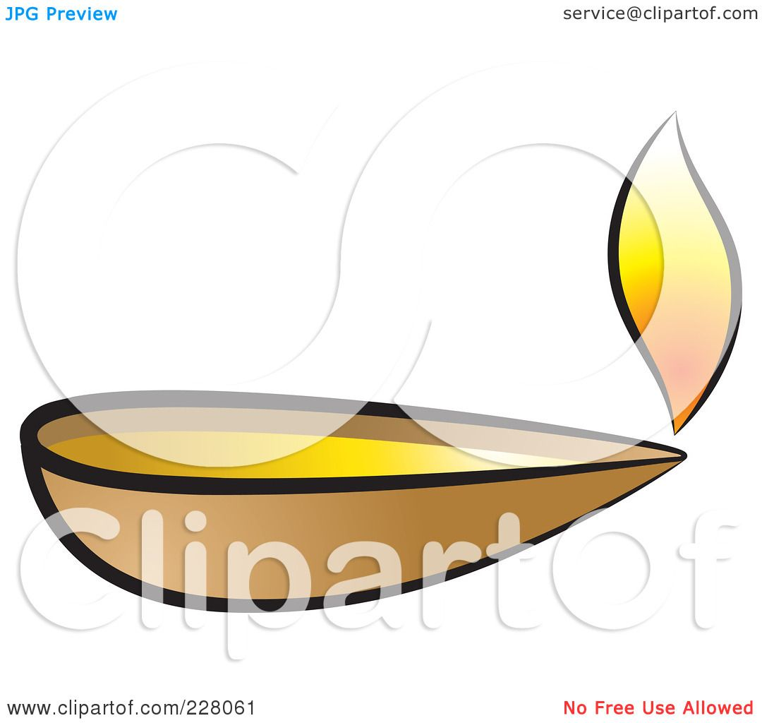 1080x1024 Royalty Free (Rf) Clipart Illustration Of A Clay Oil Lamp By Lal