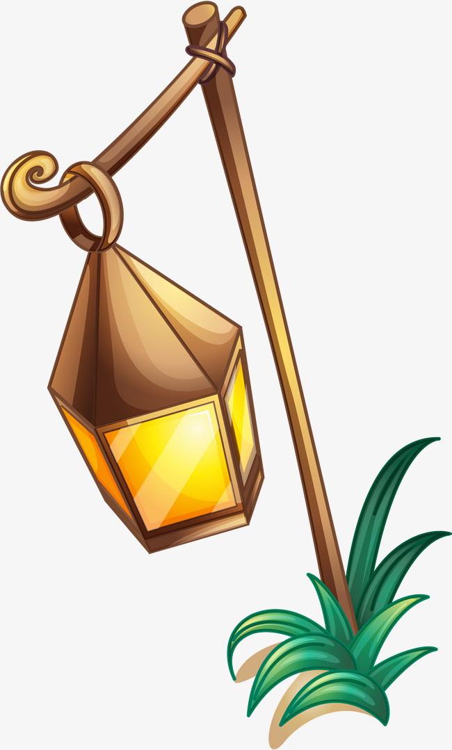 650x1079 Yellow Cartoon Lamp, Yellow, Cartoon, Oil Lamp Png Image