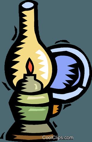311x480 Oil Lamp Royalty Free Vector Clip Art Illustration Vc018154
