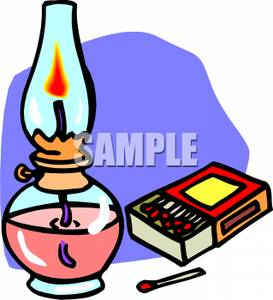273x300 Clip Art Image A Box Of Matches Next To An Oil Lamp