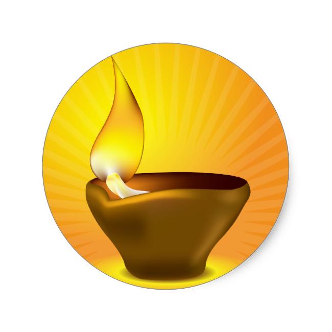 650x650 Diwali Oil Lamp Clipart