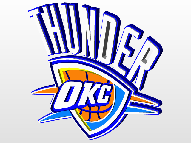 640x480 Oklahoma City Thunder 3d Cad Model Library Grabcad