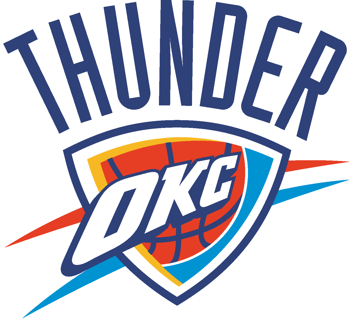 1408x1286 Oklahoma City Thunder Logo Vector Eps Free Download, Logo, Icons