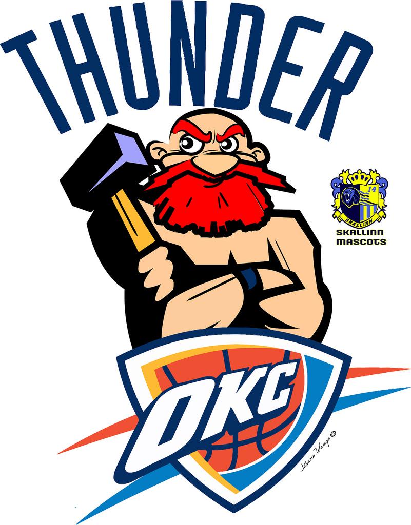 801x1024 Oklahoma City Thunder Thor Thor Thundergod