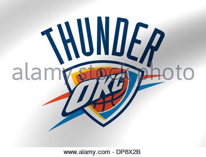 420x320 Oklahoma City Thunder Logo Flag Icon Symbol Emblem Stock Photo
