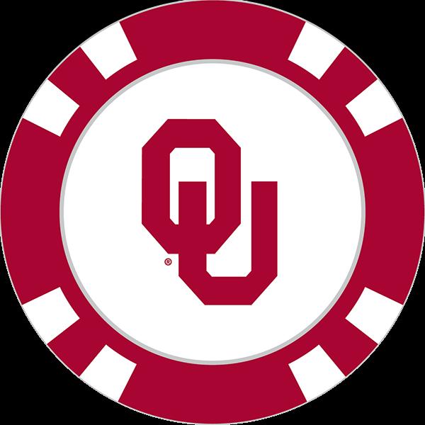 600x600 Oklahoma Sooners Poker Chip Ball Marker