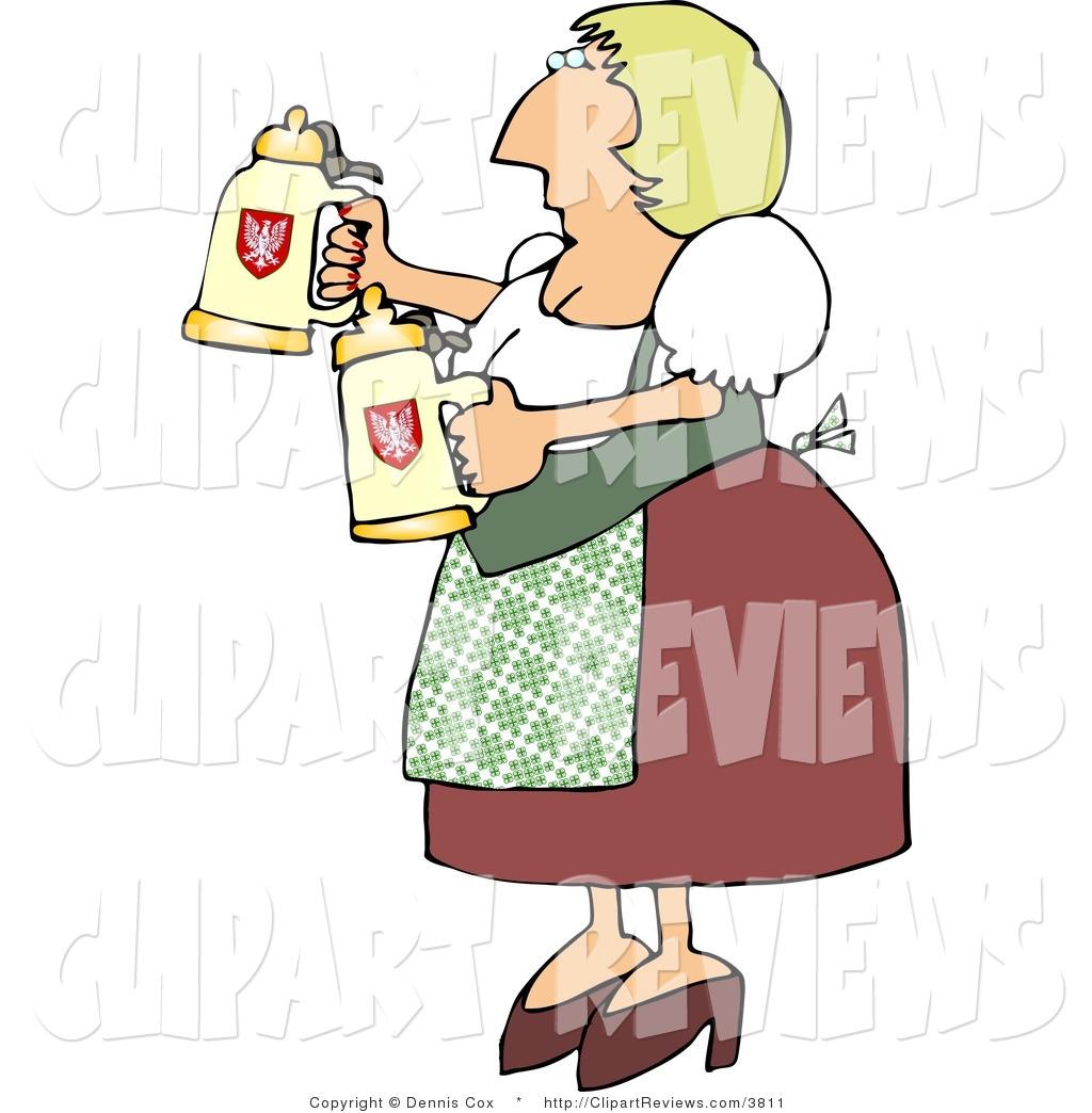 1024x1044 Clip Art Of An Oktoberfest German Woman In Traditional Dress