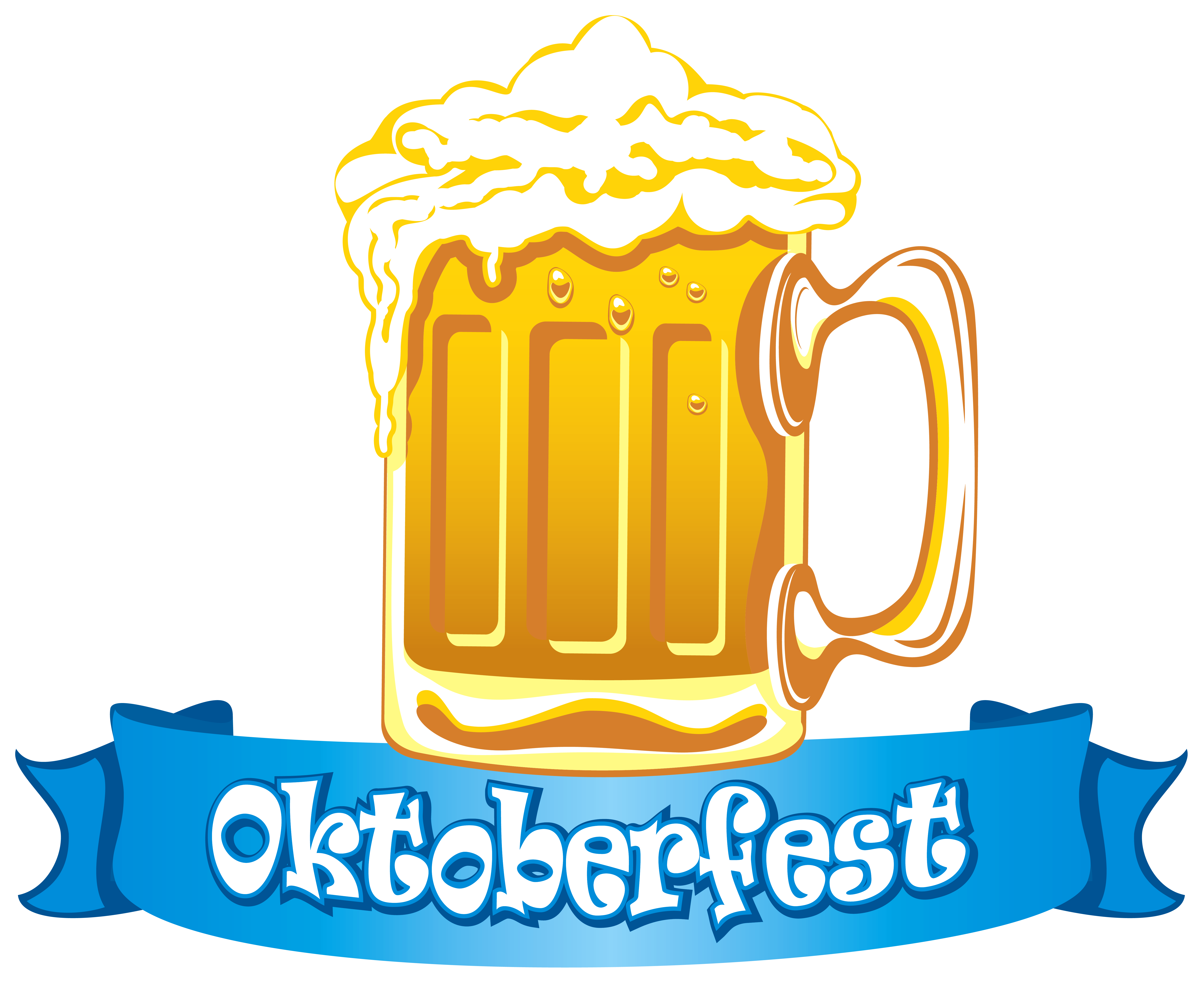 6173x5083 Oktoberfest Banner With Beer Png Clipart Imageu200b Gallery